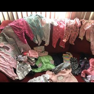Lots of baby girl clothes bundle